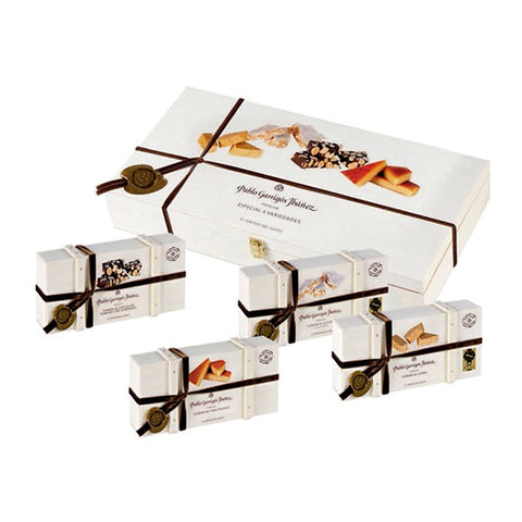 Wooden Gift Box Variation of Nougat Specialities 4 x 300g