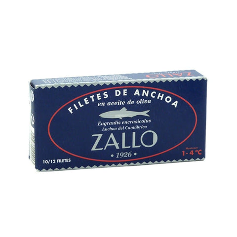 Conservas Zallo - Anchovy fillets from the Cantabrian Sea in olive oil 50g