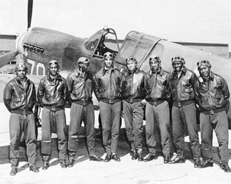 Tuskegee Airmen Posed with P-40 Warhawk, 1945 Poster Print by McMahan Photo Archive (10 x 8)