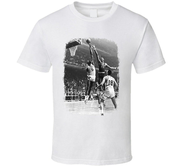 Bill Russell Basketball Celebrity Tribute T Shirt