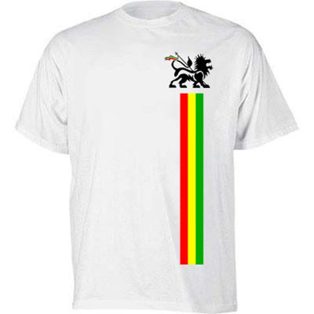 Lion of Judah Ice, Gold, Green Stripe T-shirt