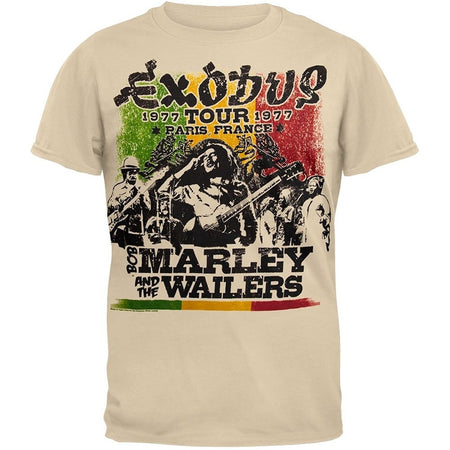Bob Marley Exodus Tour Soft Men's Fashion T-shirt