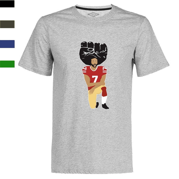 Colin Kaepernick United We Stand T-Shirt Black Power Kneeling in Silent Protest