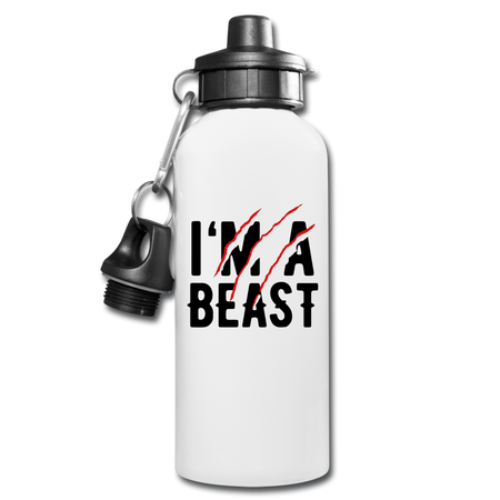 I'M A Beast Water Bottle - white