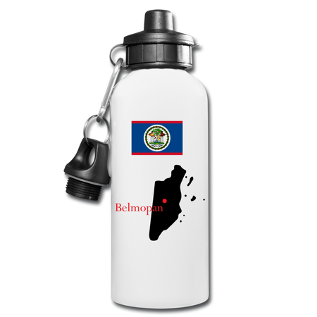 Belize Water Bottle - white