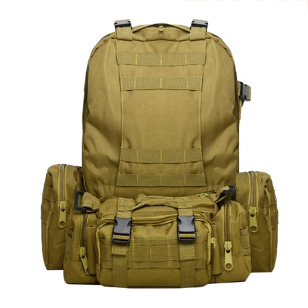 50L Outdoor Climbing Bag Military Army Tactical Backpack Waterproof Rucksacks Sport Camping Hiking Travel Combination Bag