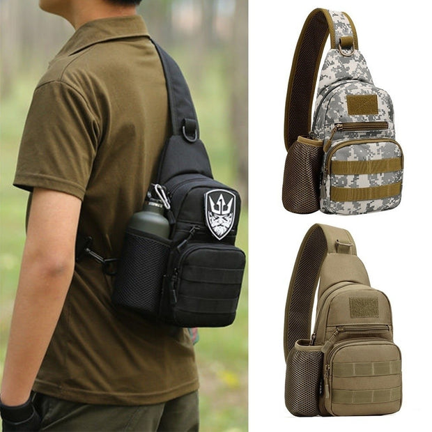 3color Men Outdoor Tactical Military Crossbody Bag Adjustable Strap Messenger Shoulder Bag Sling Waterproof Chest Bag