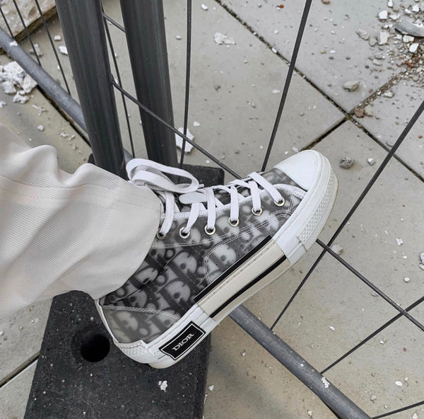 Dior B23 Oblique High Top Sneakers For Kim Duong