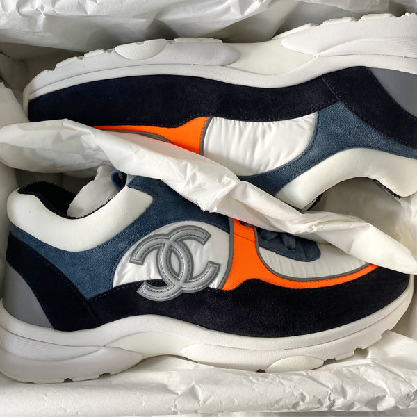 Chanel CC Logo Sneaker Blue/Orange (Reflective)