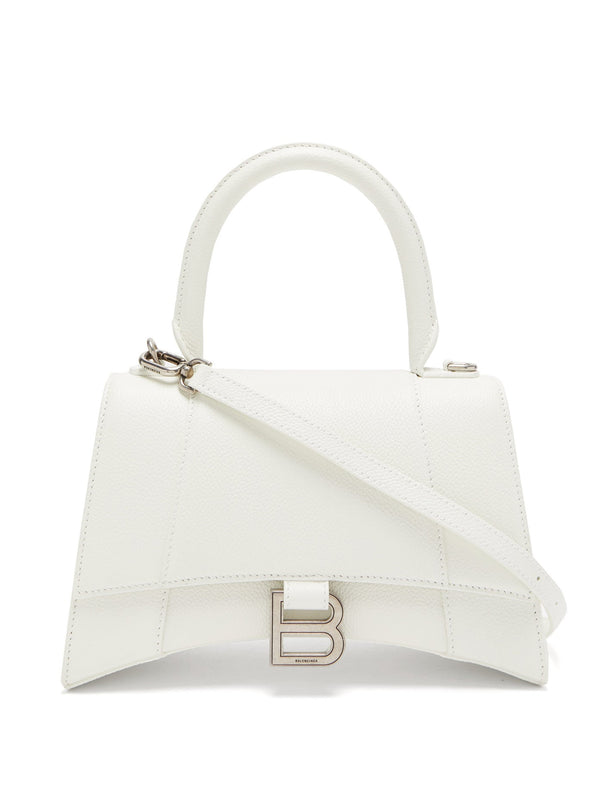 Balenciaga Hourglass S Leather Bag - White