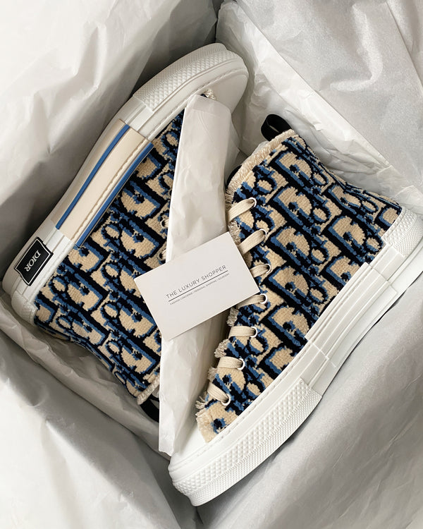 "Dior B23 ""Carpet"" Oblique High Top Sneakers"