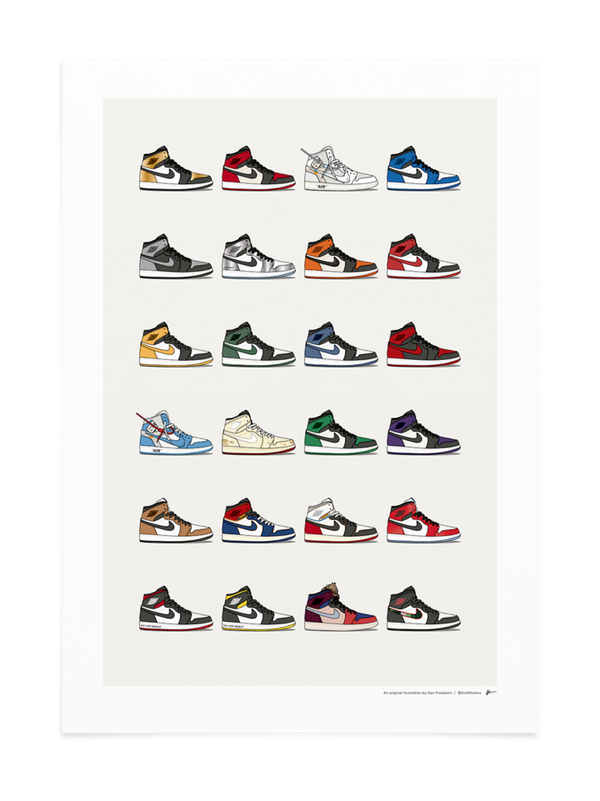 2018 Air Jordan 1 Collection Print