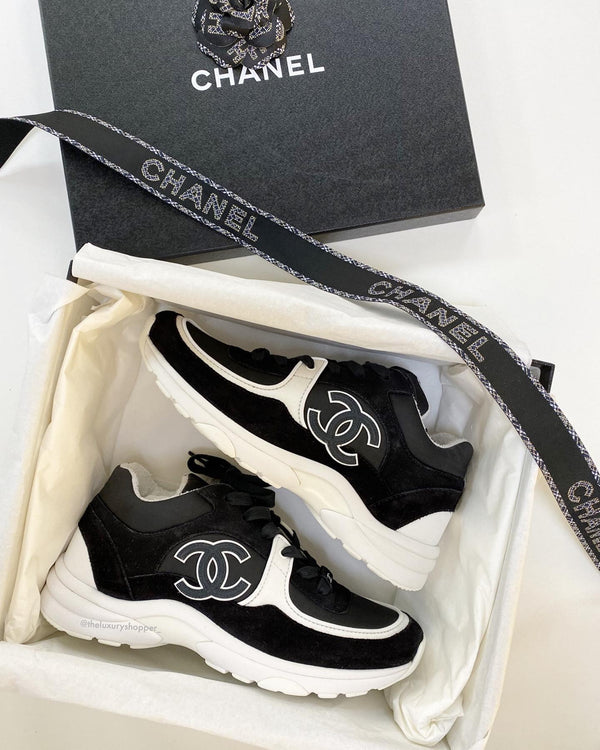 Chanel CC Logo Sneaker Black/White (Reflective)