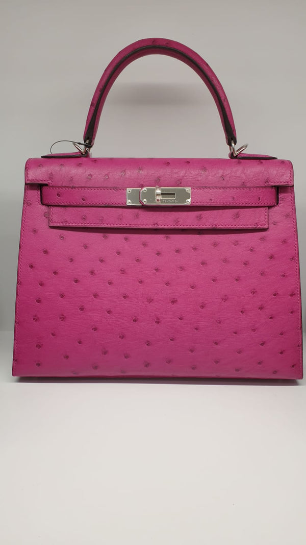 Kelly K28 Rose Pourpre Ostrich PHW