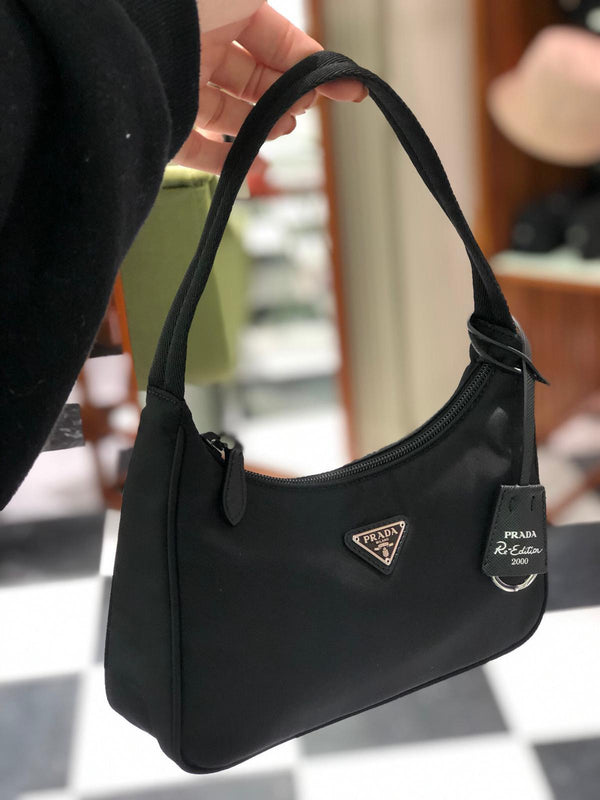 Prada Re-Edition 2000 Nylon Mini Bag (Black)