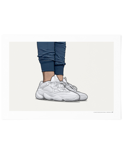 Yeezy 500 Salt On-Foot Limited Edition Print