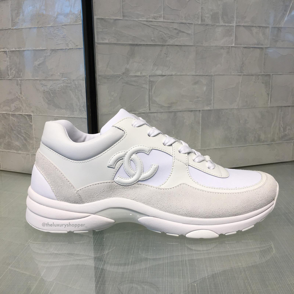 Chanel CC Logo Runner Sneaker White