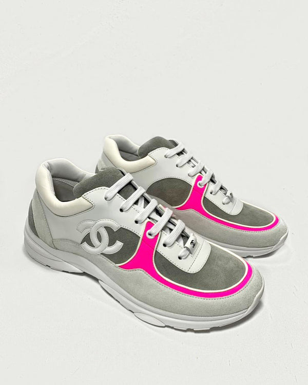 pink chanel runners