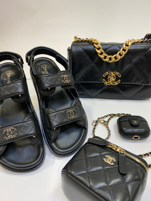 Chanel Leather CC 'Dad' Sandals (New Season)