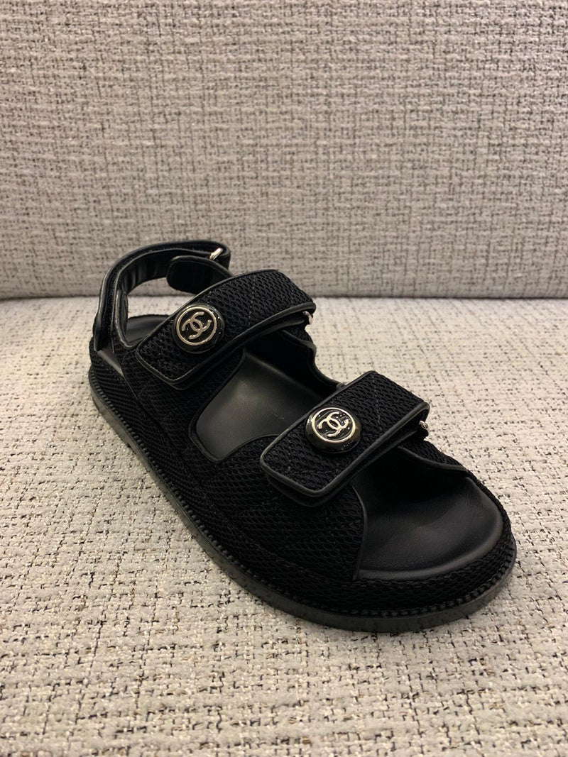 Chanel Fabric CC 'Dad' Sandals (New Season)