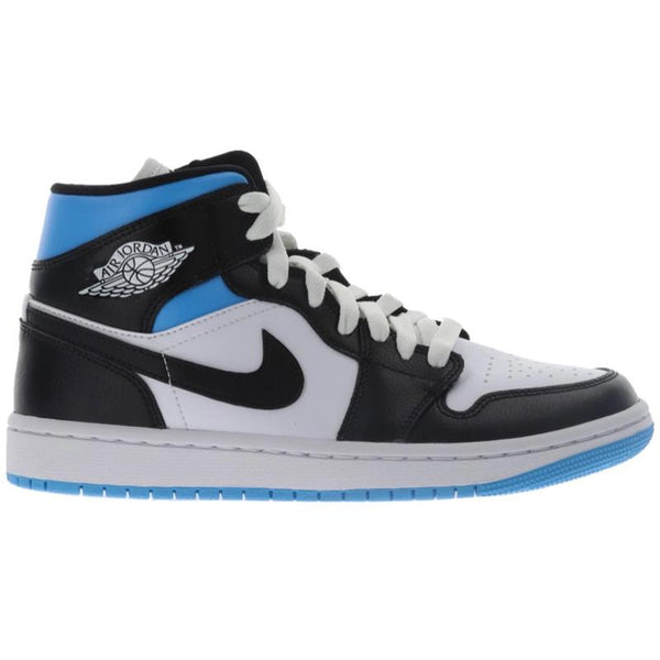 Nike Air Jordan 1 Mid University Black White (Womens)