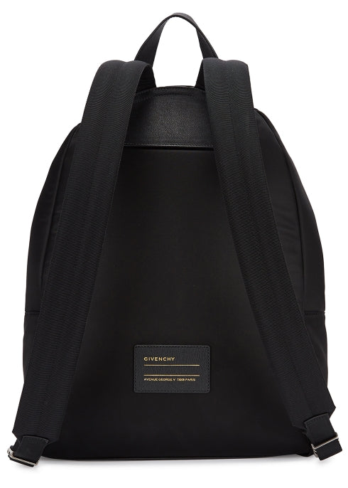 Logo Print Nylon Backpack