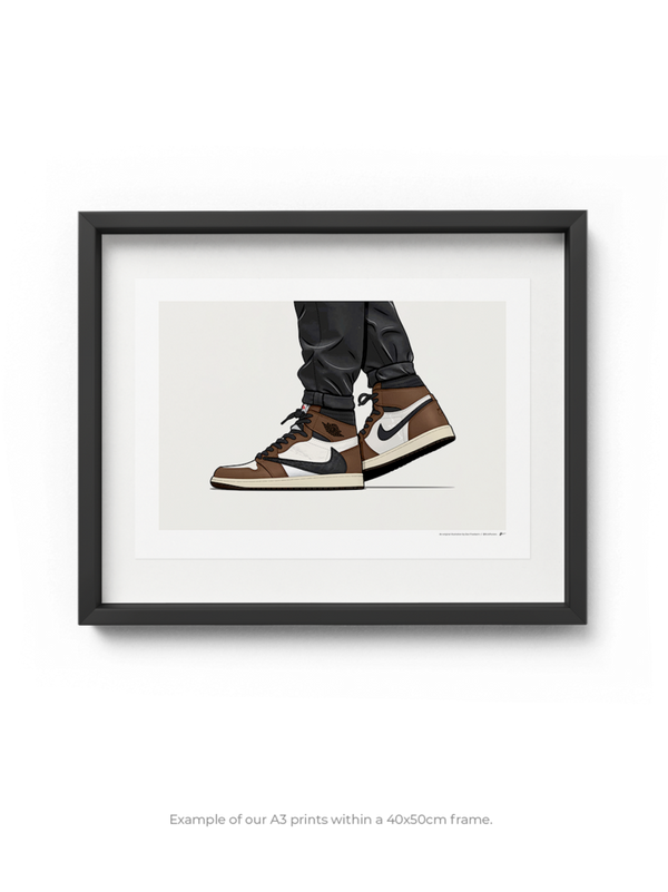 Cactus Jack Jordan 1 On-Foot Limited Edition Print