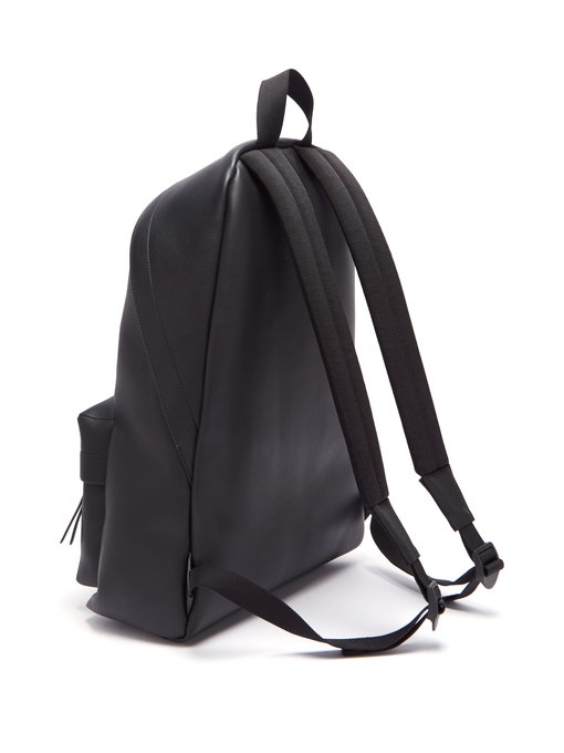 Everyday logo-print leather backpack