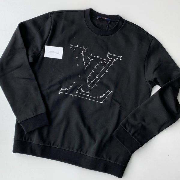 Louis Vuitton Stitch Print Embroidered Sweatshirt