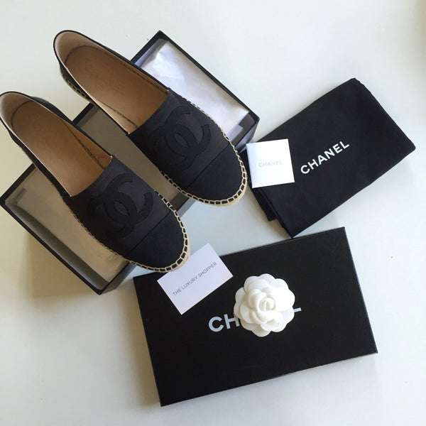 Chanel Satin Espadrille