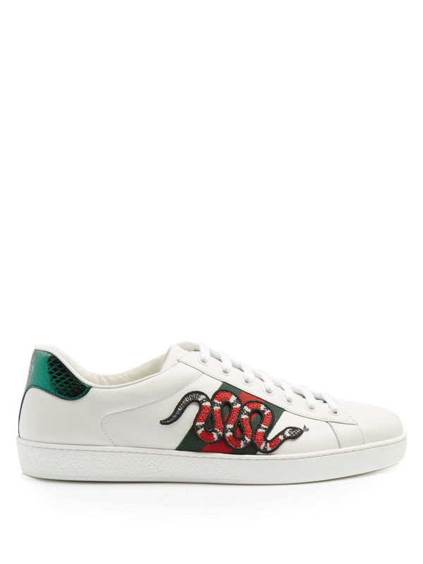 Ace Snake Low Top Leather Sneakers