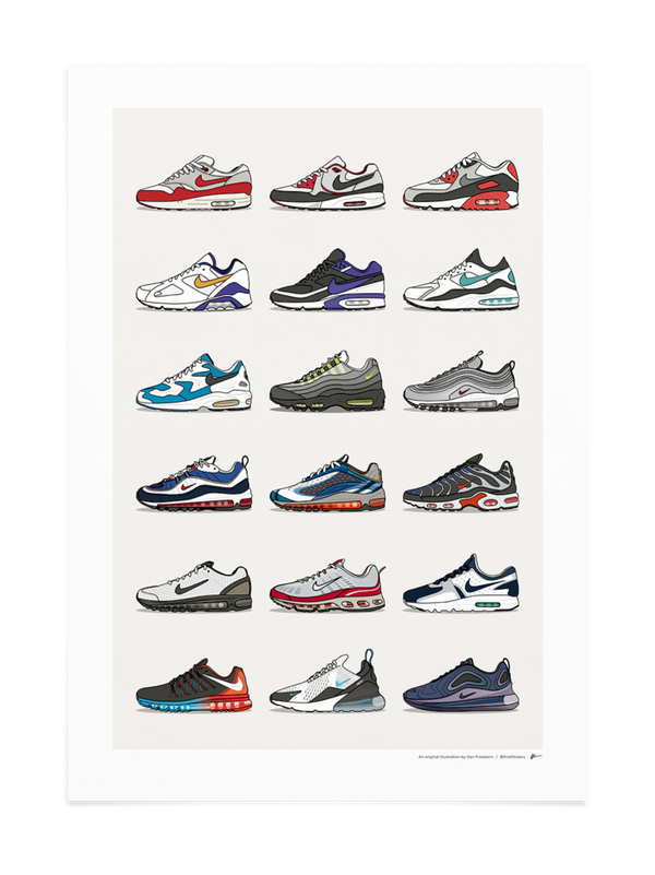History Of Air Max Collection Print