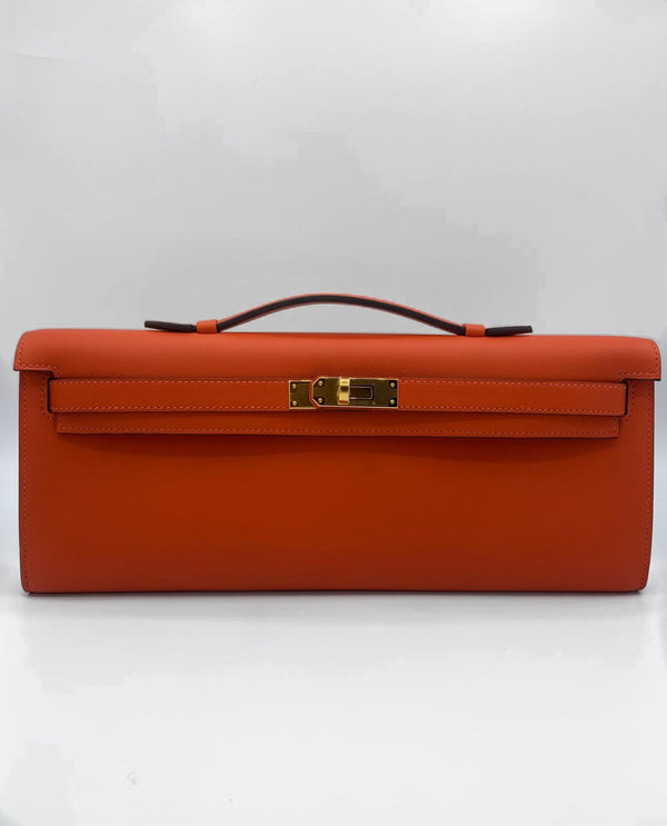 Hermès Kelly Cut Capucine Swift GHW