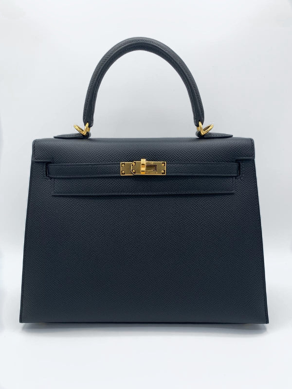 Hermès Kelly 25 Black Epsom GHW