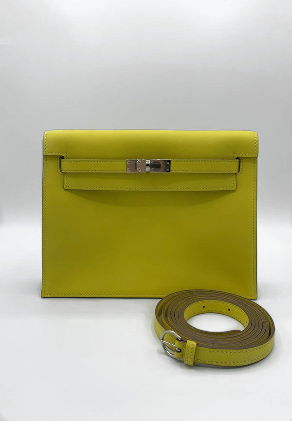 Hermès Kelly Danse Lime Evercolour  PHW