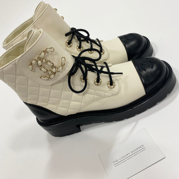 Chanel CC Pre-Fall 20 Boots White