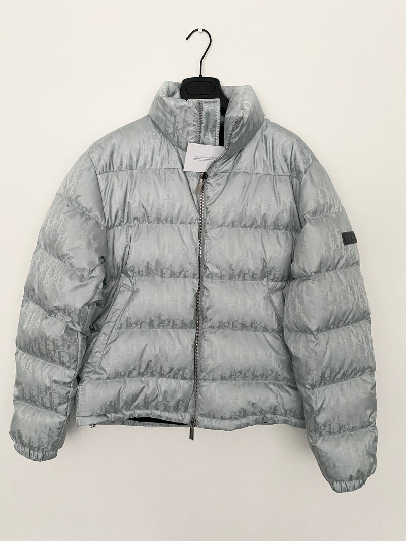 Dior Oblique Down Jacket Silver