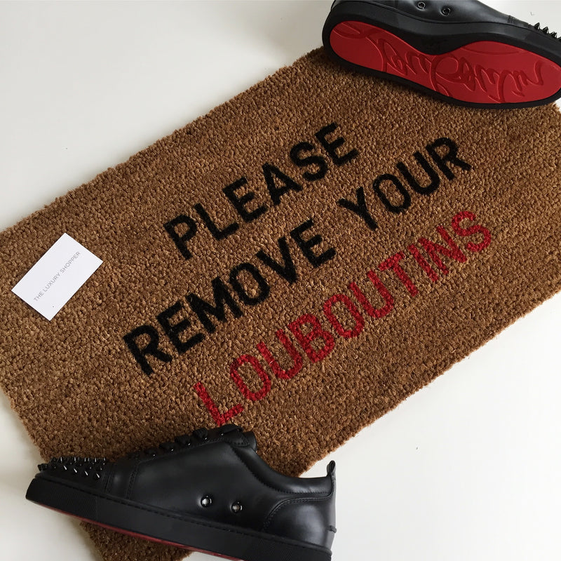 Please Remove Your Louboutins Doormat (Red)