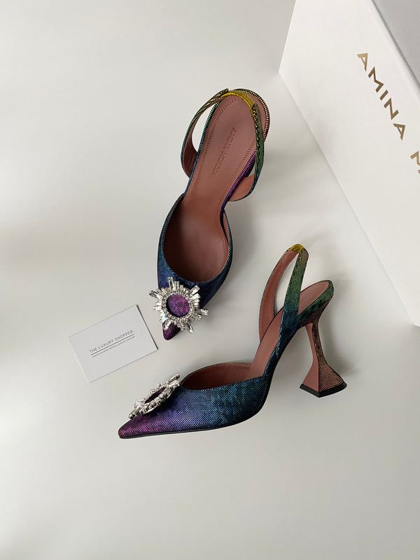 Amina Muaddi Begum Rainbow Slingback (New Season)