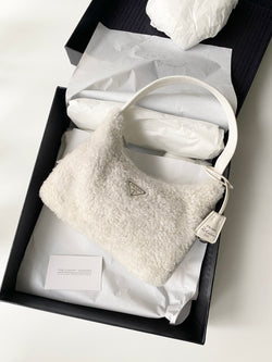 Prada Shearling Hobo Bag (Exclusive)