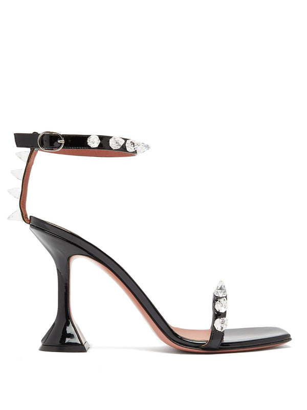 Amina Muaddi Julia Spike Embellished PVC Sandals