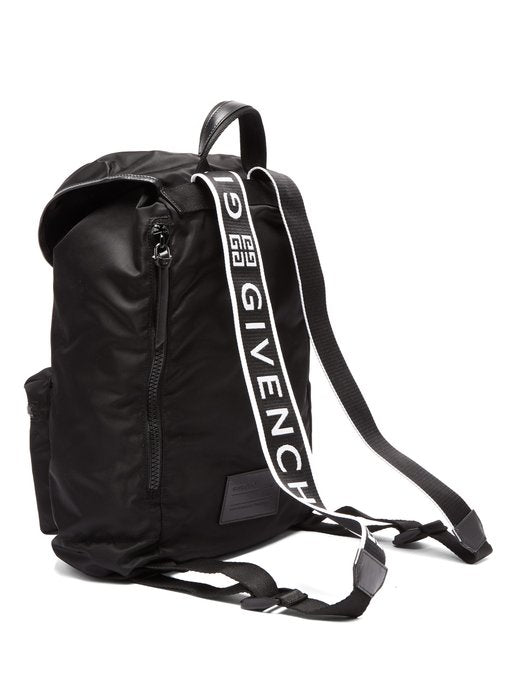 Light 3 Leather Trimmed Nylon Backpack