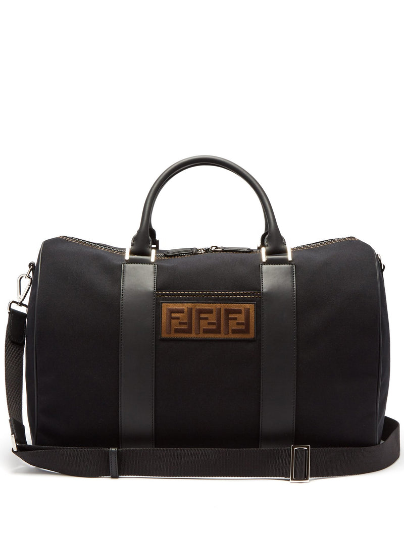 Logo Patch Canvas Holdall Bag