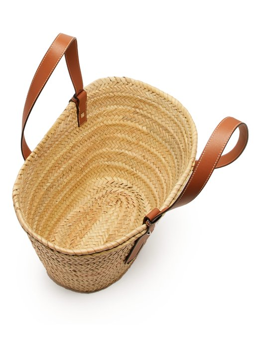 Medium Woven Basket Bag