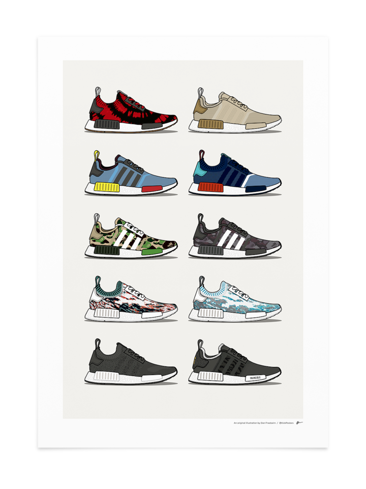 NMD R1 Collab Collection Print