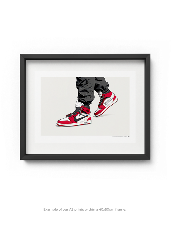 Off-White Jordan 1 Chicago On-Foot Limited Edition Print