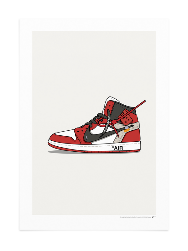 Off-White Jordan 1 Chicago Print