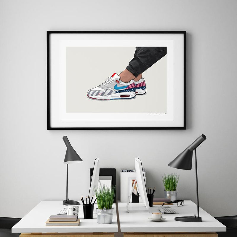 Air Max 1 Parra On-Foot Limited Edition Print