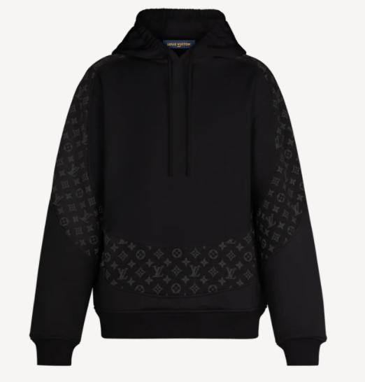 Louis Vuitton Monogram Circle Cut Hoodie Black