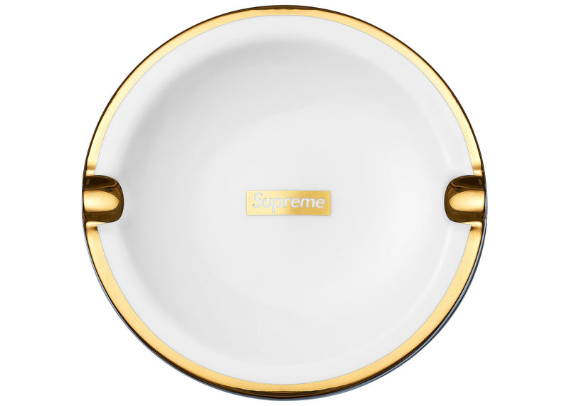Gold Trim Ceramic Ashtray